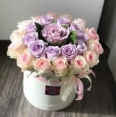 23 розы в коробке