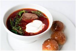 Суп Борщ украинский с пампушками