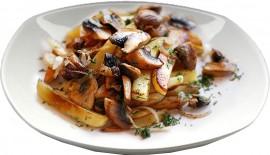 Картофель жаренный с грибами