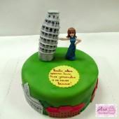 Торт с башней